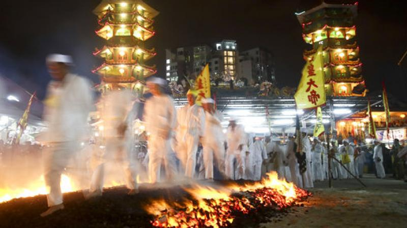 The Nine Emperor Gods Festival is an annual Taoist celebration held from the first day to the ninth day of the lunar month. (Photo: AP)