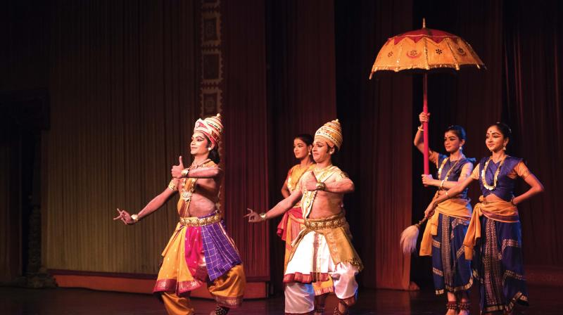 Having watched Kalakshetra's Ramayana countless times, one is reminded of Rukmini Devi's statement about the difference between creativeness which comes from within and is a matter of conviction and internal evolution, and inventiveness which is more mechanical.