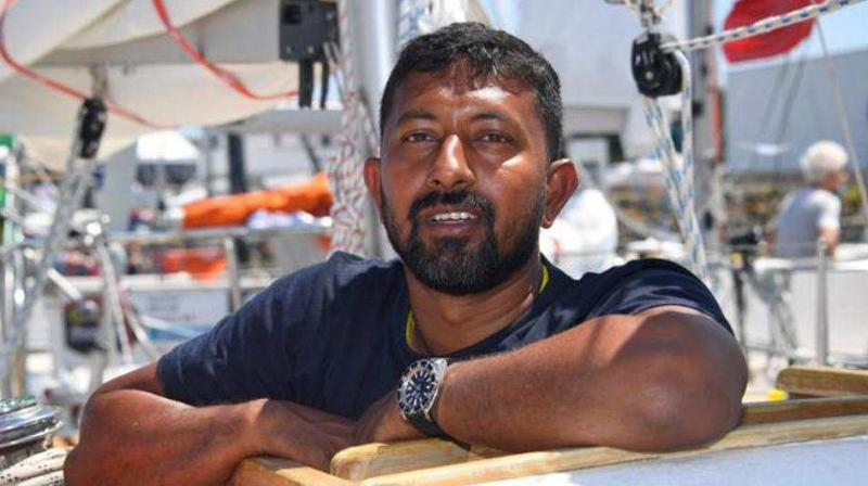 Indian Navy spokesman Capt. DK Sharma said Monday that Tomy was in third place in the race that began in France on July 1 when he lost his mast. (Photo: File/AFP)