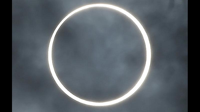 The next annual eclipse in June 2020 will be visible to a narrow band from Africa to northern Asia. (Photo: AFP)