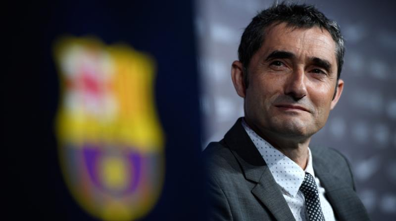 Barcelona coach Ernesto Valverde said fans can protest if they wish but must remain respectful during Wednesday's La Liga clash with Real Madrid, which is set to be a highly-politicised encounter between Spain's biggest rivals. (Photo:AFP)