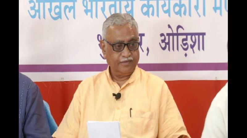 'Ram Temple is not a political issue, this is the issue of faith of Hindu society. Ram Mandir issue is related to society's faith. The way the court's proceeding is going on we have hope that a decision will come soon. We have seen the delay before on this issue but now the court has taken the matter for its conclusions,' Vaidya said. (Photo: ANI)