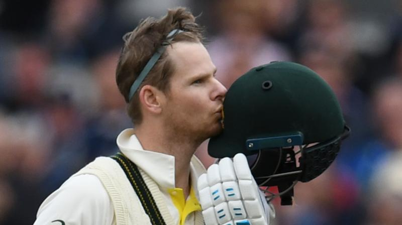 After a nervy start, Steve Smith found his comfort zone in more suitable conditions then Wednesday's gusty winds and rain. (Photo: AFP)