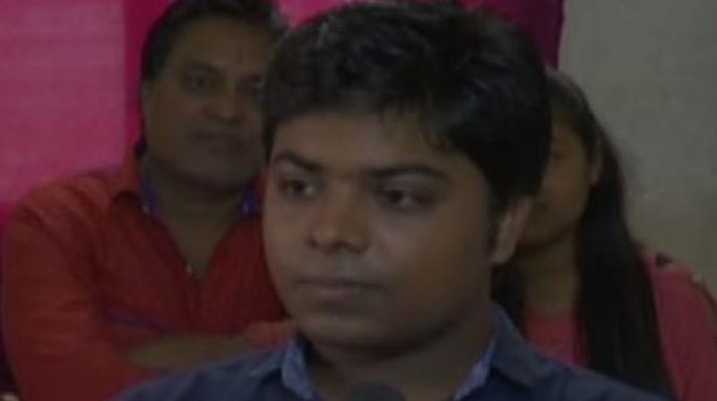 Before Surat's Aditya Jhawar, Sarthak Ahuja and Pallavi Sachdeva, both of Delhi, were the youngest to complete CA, CS and CMA at the age of 23. (Photo: ANI)