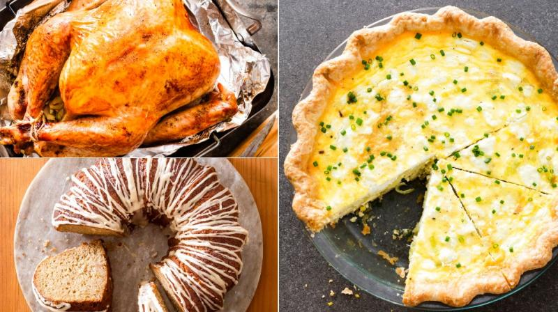 From roast turkey to quiche and cakes, here are food shots to tantalise you. (Photos: AP)