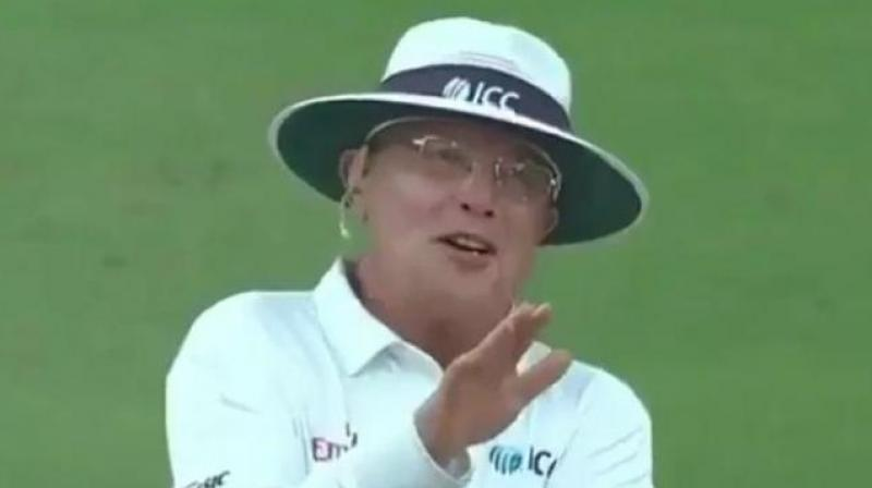 Gould, who has now officiated in his fourth ICC Men's World Cup, was one of the umpires at the 2011 World Cup semi-final between India and Pakistan in Mohali. (Photo: Twitter/Screengrab)