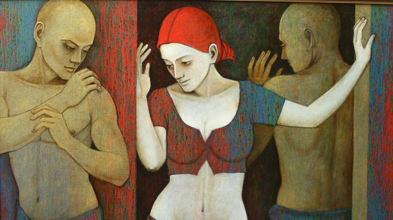 radiant expressions at jehangir art gallery is a study in gender interactions