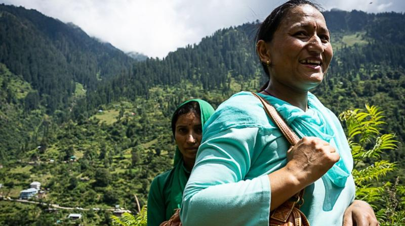 The foot soldiers of public healthcare system, ANM Meena Kumari and ASHA Nirma Devi, the feisty duo from Malana, Kullu district of Himachal Pradesh. (Photo: MoHFW)