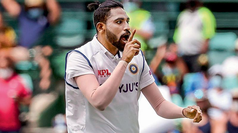 Indian bowler Mohammed Siraj in one of the test matches (Image source: David Gray/AFP)
