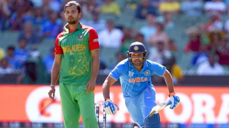 India are currently on 11 points from seven games and a win on Tuesday will ensure a smooth passage to the semi-finals unlike Bangladesh, who must win their last couple of league games in order to make their maiden entry into the last four stage. (Photo:AFP)