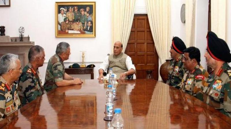 Defence Minister Rajnath Singh has also promised full support to the Army chief in modernising the Army and push all of its stuck modernisation projects. (Photo: ANI)