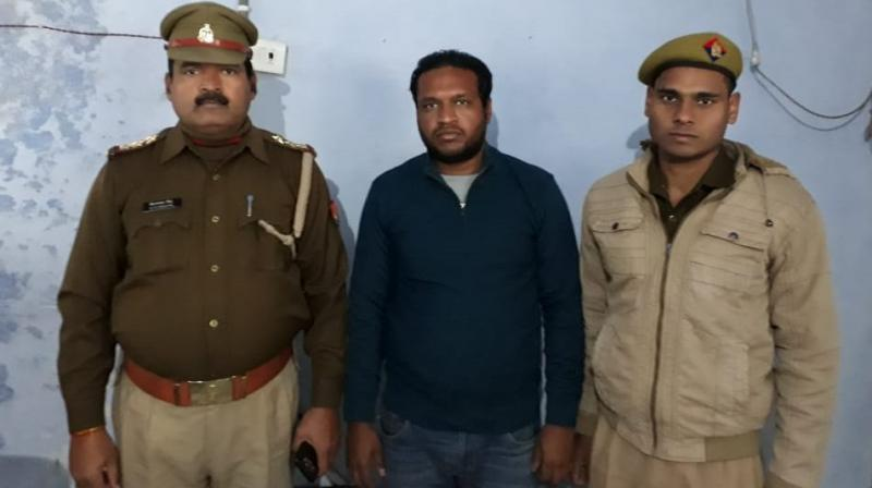 Agarwal was held from the adjoining Hapur district by the Bulandshahr police, a senior official said. (Photo: ANI | Twitter)