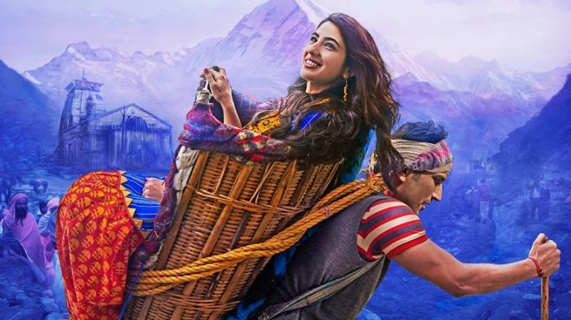 Sushant Singh Rajput and Sara Ali Khan on Kedarnath poster.