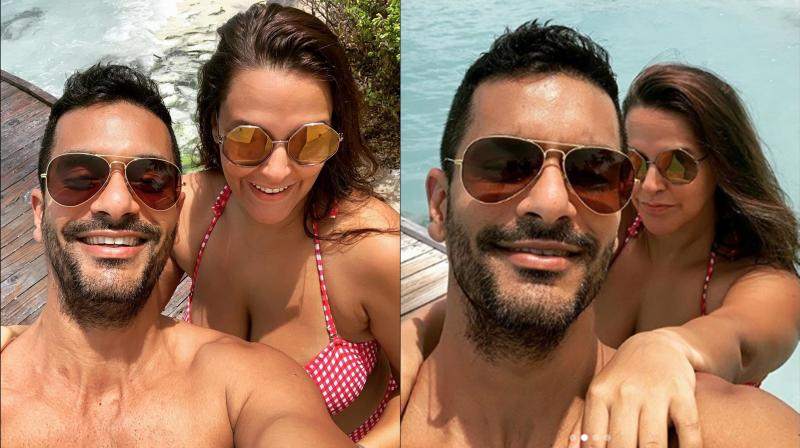 Neha Dhupia and Angad Bedi. (Photo: Instagram)