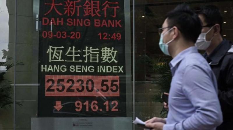 Asia shares mixed after US crude slides to 20-year lows. (AFP Photo)