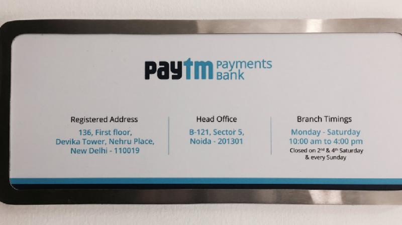 Paytm Payments bank (Photo: Twitter)