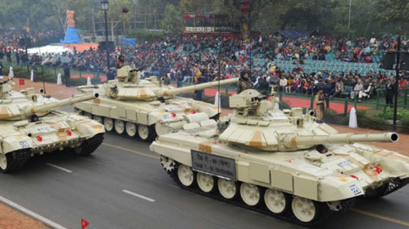 At present, India's armoured regiments, comprising mainly T-90, T-72 and Arjuna tanks, have much more superiority over Pakistan, but sources said Islamabad was seriously planning to bridge the gap at the earliest. (Representational Image   PIB)