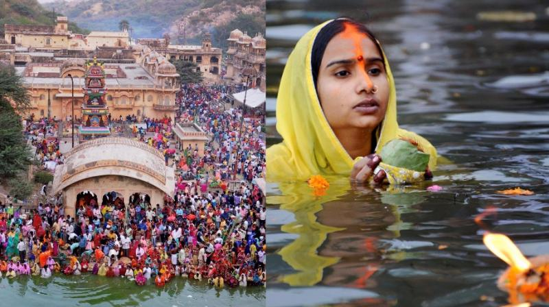 Chhath Puja 2017 is an ancient Hindu festival, rituals are performed to thank the Sun god for sustaining life on earth and seeking the divine blessings. (All photos: PTI, AP)