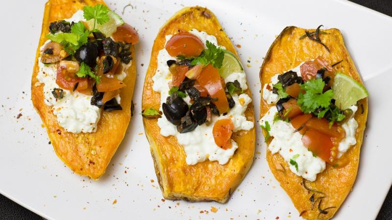High amount of dietary fibre, low calorie content and high amount of water in sweet potato will work great if you're trying to lose weight. It is also rich in Vitamin C. (Photo: Pixabay)