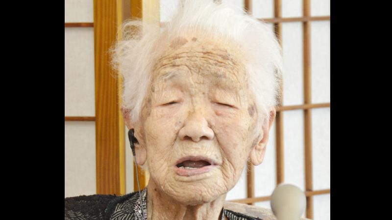 116-year-old Kane Tanaka takes record