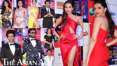 Bollywood celebs like Ranveer Singh, Deepika Padukone, Ranbir Kapoor, Alia Bhatt, Malaika Arora, Varun Dhawan, Sonam Kapoor Ahuja and others dazzle on the red carpet of Zee Cine Awards 2019. (Photos: Viral Bhayani)