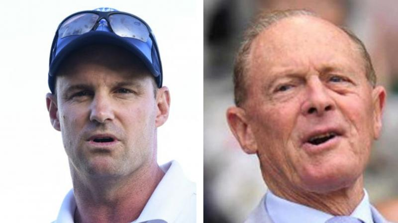 Geoffrey Boycott and Andrew Strauss both received the honour for their services to sport after outstanding careers for England. (Photo:AFP)