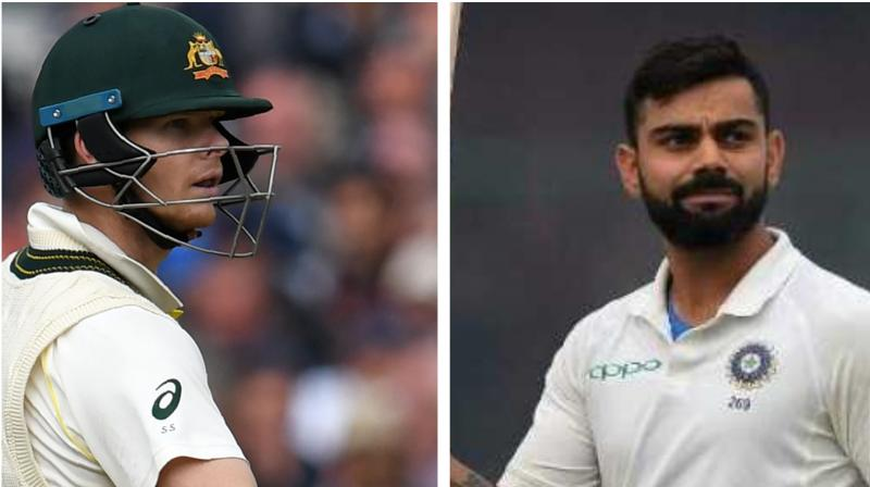 India captain Virat Kohli has managed to hold on to his second position behind Australia's Steve Smith in the ICC Test Rankings for batsmen released on Monday. (Photo:AFP)