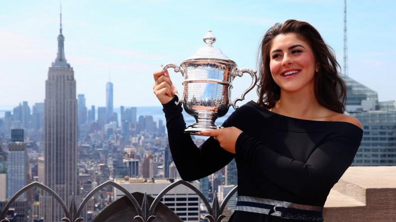 US Open champion Bianca Andreescu returned to her hometown a conquering hero on Wednesday with a little more celebrating to do before getting back to work and setting new goals, such as staying injury-free.  (Photo: BiancaAndreescu/Twitter)