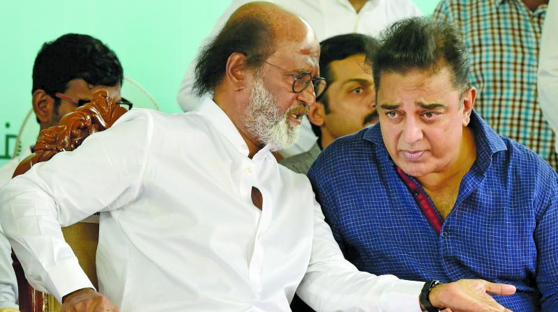 Rajinikanth and Kamal Haasan (Photo: PTI/File)