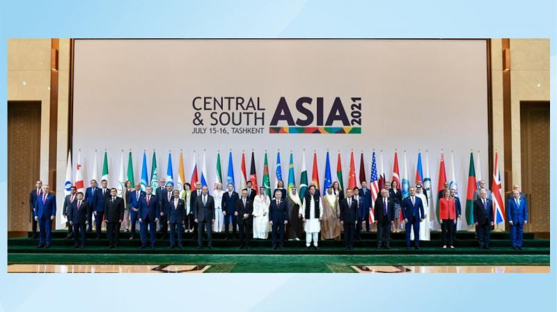 With the shrinking footprint of the United States in the region and the relentless advance of the Taliban, the real Quad in connectivity which looms on the horizon is between a Taliban-dominated Afghanistan, an expansionist China, a hostile Pakistan and Uzbekistan --the only country that is friendly to India in this group. Image from the conference 'Central and South Asia: Regional Connectivity. Challenges and Opportunities'. (Twitter)