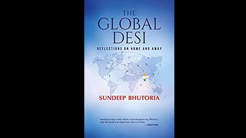 Cover page of 'The Global Desi: Reflections on Home and Away' by Sundeep Bhutoria. (Twitter)