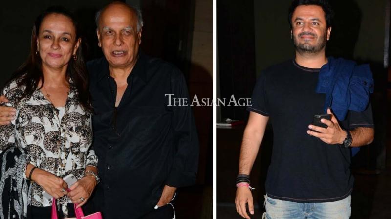 Mahesh Bhatt and Soni Razdan stepped out for a screening of their daughter Alia Bhatt's film 'Dear Zindagi' late Thursday. (Photo: Viral Bhayani)