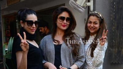 Kareena's pictures with Karisma and Amrita on social media are often much talked-about. (Photo: Viral Bhayani)