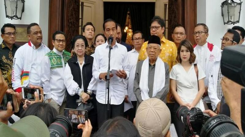 President Joko Widodo talks about results of presidential and parliamentary elections. (Photo: ANI)