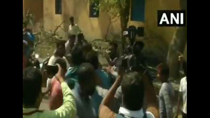 There were reports of altercations between supporters of TMC, BJP and CPI (M) from several polling booths in the constituency. (Photo: ANI)