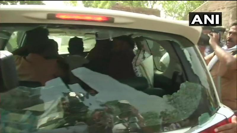 According to reports, Supriyo had a tiff with polling officials inside a booth, following which TMC supporters attacked his vehicle. (Photo: Twitter/ ANI)