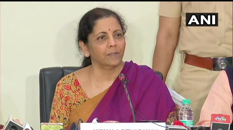 'Whatever be the size- small, medium, micro, nano or large entrepreneurs of this country, we want them to carry on with their business without a worry,' she said at the beginning of the address. (Photo: ANI)