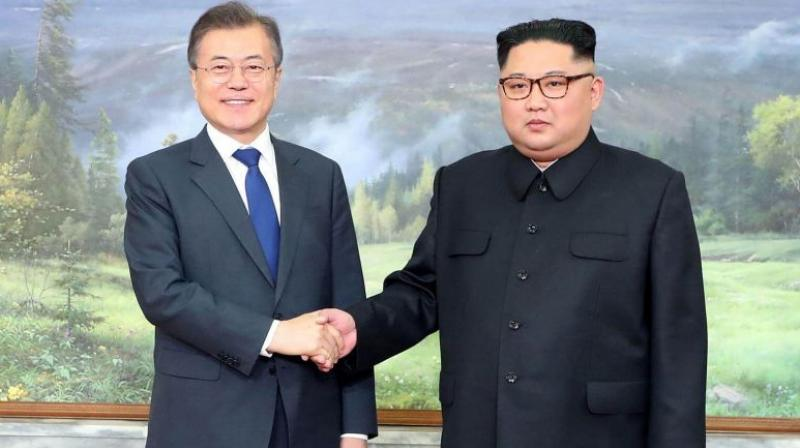 The two Koreas undertook a flurry of diplomacy including three summits last year, during which Moon and Kim agreed to improve ties and restart stalled business initiatives. (Photo: File)