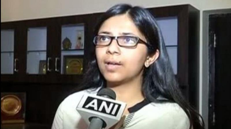 Delhi Commission for Women (DCW) Chief Swati Maliwal. (Photo: ANI)