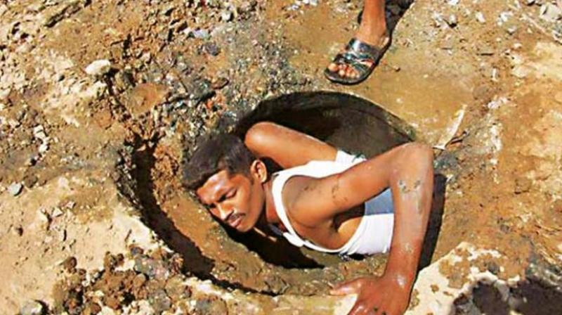 Manual scavenging is banned under the Prohibition of Employment as Manual Scavengers and their Rehabilitation Act, 2013. (File)
