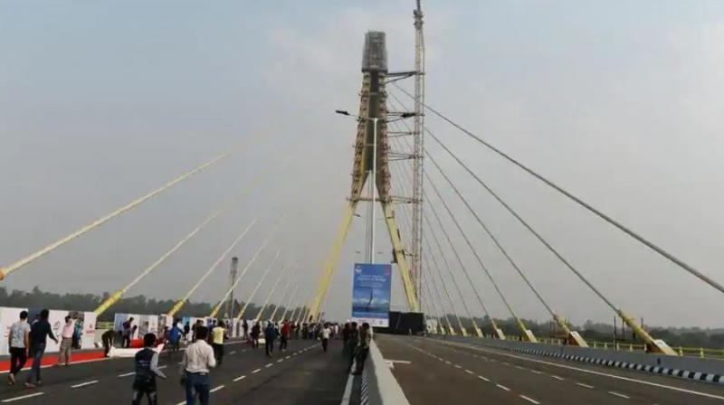 The bridge will be thrown open for public from Monday. (Photo: AFP)