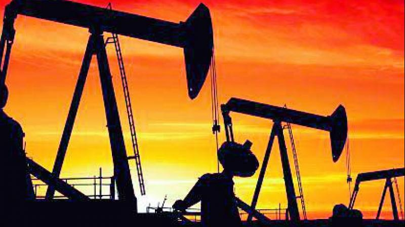 International Brent crude oil futures were down by 26 cents, or 0.4 percent, at USD 62.43 per barrel.