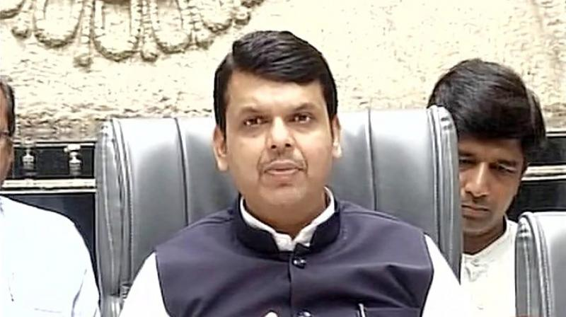 Maharashtra Chief Minister Devendra Fadnavis. (Photo: Twitter | ANI)