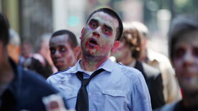 A zombie may have 90% chance of infecting victims (Photo: AFP)