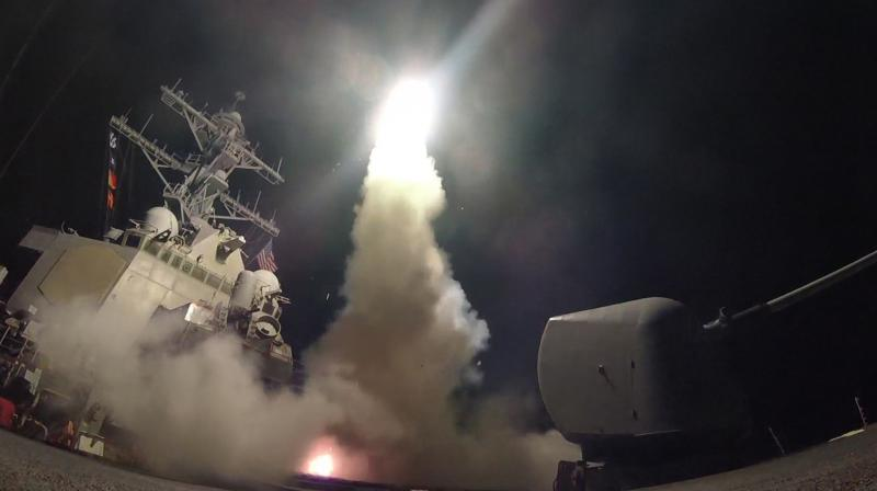 The warships USS Porter and USS Ross in the Mediterranean Sea launched dozens of Tomahawk missiles at the Shayrat air base (Photo: US Navy