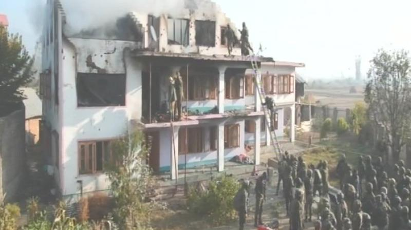 The militants opened fire on security forces which was retaliated by the law enforcement personnel, the police official said. (Photo: ANI/Twitter)