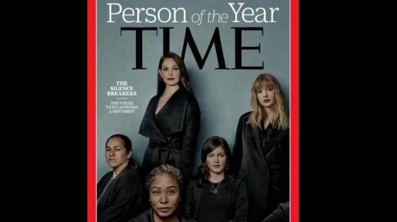 This is the fastest moving social change we've seen in decades and it began with individual acts of courage by hundreds of women. (Photo: Twitter/TIME)