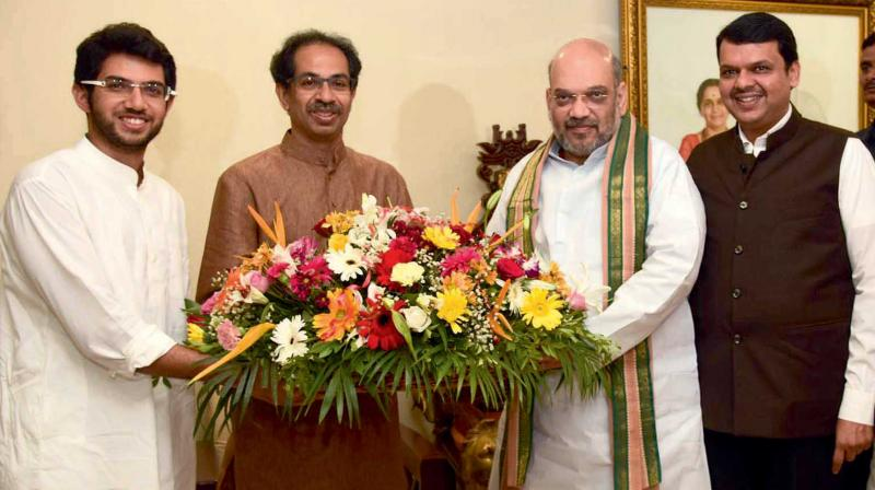 In January, the Sena had announced it will not align with the BJP and go solo in the 2019 Lok Sabha and Maharashtra Assembly polls. (Photo: File)