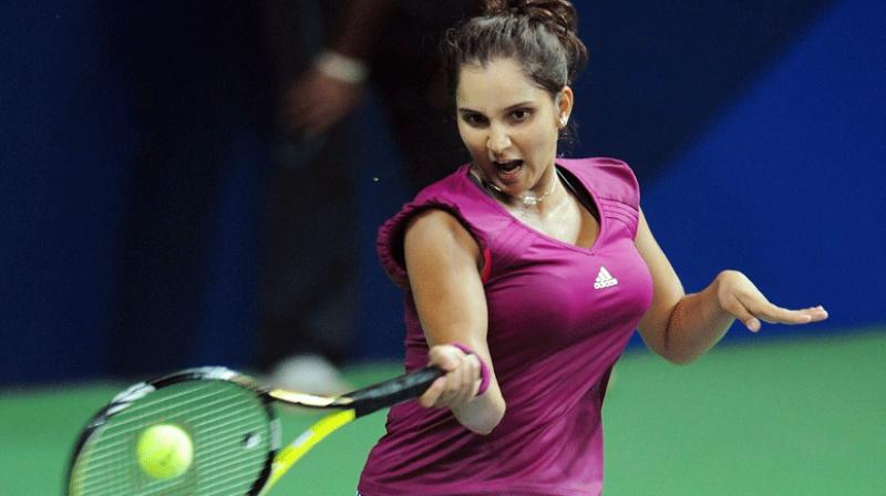 Indian tennis ace Sania Mirza made a winning return to the WTA circuit by advancing to the women's doubles quarterfinals of the Hobart International Tournament here on Tuesday. (Photo:AFP)