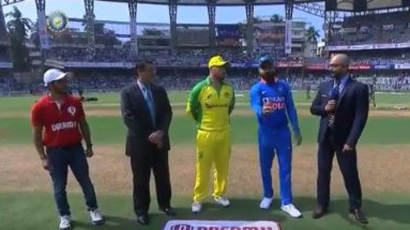 Australian captain Aaron Finch won the toss and opted to bowl in their first one-day cricket match against India here on Tuesday. (Photo:BCCI)